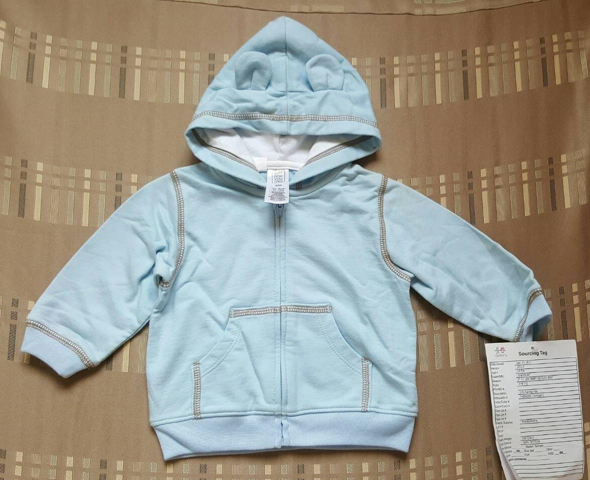 เสื้อกันหนาว Carter's แขนยาว มี hood ซิปหน้า (size 6 เดือน)