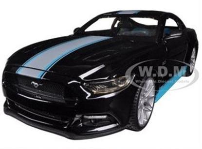พรีออเดอร์ รถเหล็ก รถโมเดล 2015 US FORD MUSTANG GT 5.0 CUSTOM EDITION Maisto สีดำ สเกล 1:24