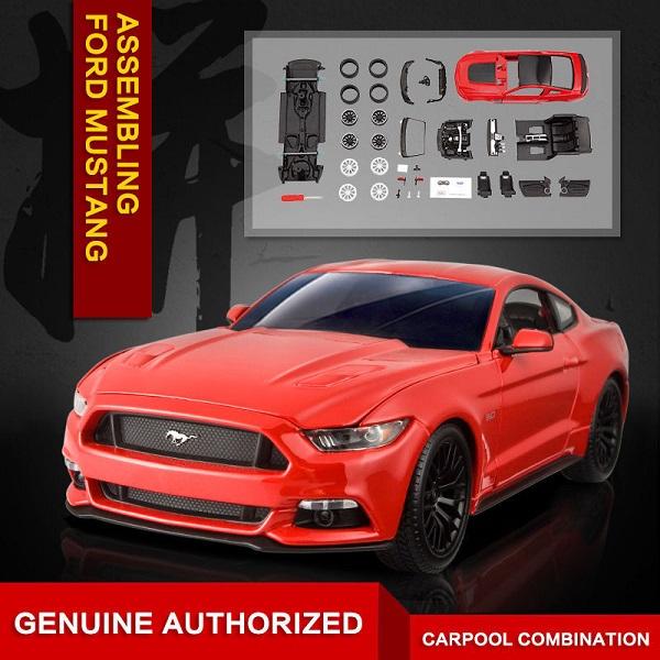 ขาย พรีออเดอร์ โมเดลรถเหล็ก โมเดลรถยนต์ ประกอบ Ford Mustang แดง 1:24 สเกล มี โปรโมชั่น