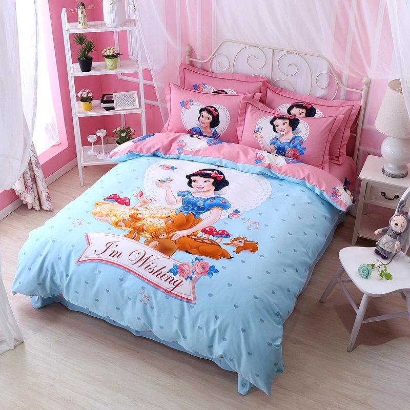ผ้าปูที่นอน ลายสโนไวท์ เจ้าหญิง Snow White