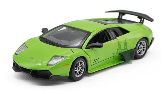 ขาย พรีออเดอร์ โมเดลรถเหล็ก โมเดลรถยนต์ Lamborghini LP670-4SV เขียว 1:24 มีโปรโมชั่น