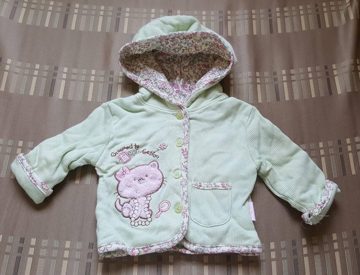 เสื้อกันหนาว Petite Bears แขนยาว มี hood (size 3-6 เดือน)