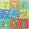 แผ่นรองคลานลายดอกไม้ (10 แผ่น)