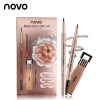 NOVO FASHION BROW โนโว ดินสอเขียนคิ้ว แบบหมุน มีแปรงปัดคิ้วในตัว