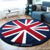 พรมทรงกลม พรมปูพื้น ลายธงชาติอังกฤษ ทอมือ