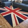 พรมใหญ่ พรมปูพื้น ลายธงชาติอังกฤษ ทอมือ