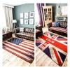 พรมห้องนั่งเล่น ลายธงชาติอังกฤษ และ ธงชาติสหรัฐ