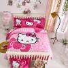 ผ้าปูที่นอน ลายการ์ตูนคิตตี้ สีชมพู Kitty bedding set
