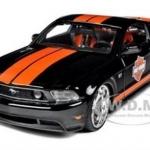 พรีออเดอร์ รถเหล็ก รถโมเดล US 2011 Ford Mustang GT Harley สีดำคาดเส้นสีส้ม Special Edition Maisto สเกล 1:24