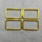 ห่วงสี่เหลี่ยม1.5นิ้ว ทอง (ลวด4.5mm)
