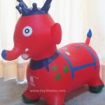 ตุ๊กตายางรูปสัตว์เด้งดึ๋ง รูปช้างแดง