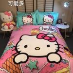 ผ้าปูที่นอน ลายคิตตี้ สีชมพู Kitty Bedding Set