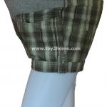 กางเกงคนท้องแบบขาสั้น (ลายสก็อต) ผ้า cotton