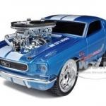 พรีออเดอร์ รถเหล็ก รถโมเดล US Muscle 1966 FORD MUSTANG BLUE GASSER Maisto สเกล 1:24