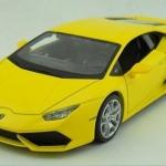 พร้อมส่ง โมเดลรถ 2014 Lamborghini huracan LP610-4 เหลือง 1:24 สเกล มี โปรโมมชั่น