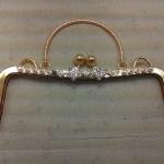 ปากกระเป๋าปิ๊กแป๊กดอกไม้8นิ้ว ทอง