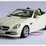พร้อมส่ง โมเดลรถเหล็ก โมเดลรถยนต์ Benz SLK 200 1:24 สเกล สีขาว มี โปรโมชั่น