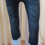 กางเกงเลคกิ้ง 7 ส่วน ผ้าหิมะ (สีดำ)