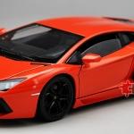 พรีออเดอร์ โมเดลรถเหล็ก โมเดลรถยนต์ Lamborghini Aventador LP700-4 ส้ม 1:24 หายาก
