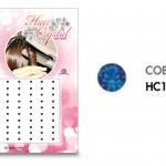 แฮร์คริสตัล 96 เม็ด - HC B 013
