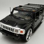 ขาย พรีออเดอร์ โมเดลรถเหล็ก โมเดลรถยนต์ Hummer H2 ดำ 1:24 มี โปรโมชั่น