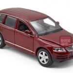 พรีออเดอร์ โมเดลรถเหล็ก โมเดลรถยนต์ Volkswagen Touareg สีแดง 1:24 สเกล มี โปรโมชั่น