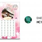 แฮร์คริสตัล 96 เม็ด - HC B 011