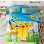 ผ้าปูที่นอนลายโปเกม่อน Pokemon สีเหลือง