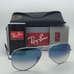 Ray Ban Aviator RB3025 003/3F Silver Frame Blue Gradient 58mm
