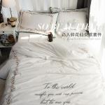 ผ้าปูที่นอน งานปัก ลายดอกไม้ Fairy models Rococo garden