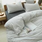 ผ้าปูที่นอน สีพื้น เนื้อผ้าถักนิตติ้ง KnittedCotton