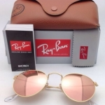 Ray Ban RB3447 112/Z2 Round metal pink mirror 50mm