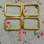 ห่วงสี่เหลี่ยม1นิ้ว ทอง
