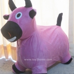 ตุ๊กตายางหุ้มผ้า (ถอดได้) รูปวัวชมพู