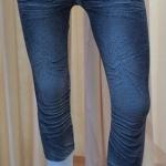 กางเกงเลคกิ้ง 7 ส่วน ผ้า Spendex (ลายสนิมน้ำเงิน)