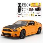 ขาย พรีออเดอร์ โมเดลรถเหล็ก โมเดลรถยนต์ ประกอบ Ford Mustang Street Racer ส้ม 1:24 สเกล มี โปรโมชั่น