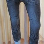 กางเกงเลคกิ้ง 7 ส่วน ผ้า Spendex (ลายสนิมน้ำตาล)