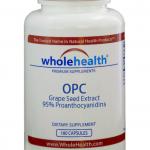 Wholehealth OPC Grape Seed Extract 95 percent Proanthocyanidins วิตามิน สารสกัดจากเมล็ดองุ่น บำรุงร่างกาย บำรุงผิว