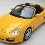 ขาย พรีออเดอร์ โมเดลรถเหล็ก โมเดลรถยนต์ Porsche boxster S สีเหลือง 1:24 มี โปรโมชั่น