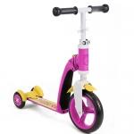 สกู๊ตเตอร์+จักรยานทรงตัว สีชมพู/เหลือง (Scooter+Balance Bike) ฟรีค่าจัดส่ง