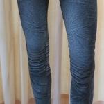 กางเกงเลคกิ้ง 9 ส่วน ผ้า Spendex สีดำ (ลายสนิม)