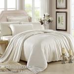 ผ้าปูที่นอน ผ้าเทนเซล tencel สีพื้นครีม