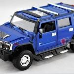 ขาย พรีออเดอร์ โมเดลรถเหล็ก โมเดลรถยนต์ Hummer H2 น้ำเงิน 1:24 มี โปรโมชั่น