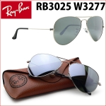 RayBan RB3025 W3277 Aviator Silver mirror 58mm