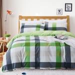 ผ้าปูที่นอน ลายตาราง สก๊อต พื้นสีเขียว