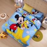 ผ้าปูที่นอน ลายมิคกี้เม้าส์ มินนี่เม้าส์ Mickey Mouse bedding Set