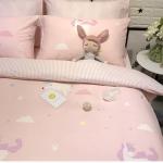 ผ้าปูที่นอน ลายการ์ตูนม้ายูนิคอน Unicon สีชมพูหวานๆ