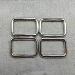 ห่วงสี่เหลี่ยม1.2นิ้ว เงิน (ลวด4.5mm)