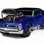 พรีออเดอร์ รถเหล็ก รถโมเดล US Muscle 1966-1967 PONTIAC GTO สีน้ำเงิน Maisto สเกล 1:24