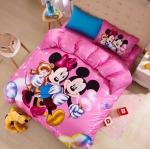 ผ้าปูที่นอน ลายมิคกี้เม้าส์ มินนี่เม้าส์ Mickey Mouse and Minnie Bedding Set